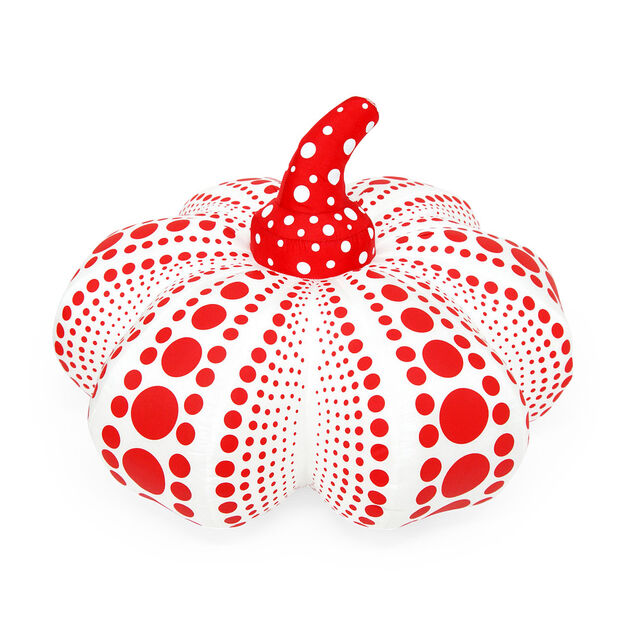 Yayoi Kusama Plush Pumpkin in color White