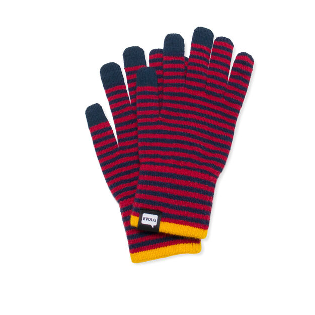 Striped Touch Gloves in color