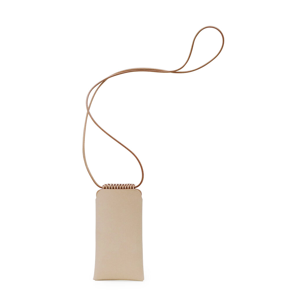 Woven iPhone Pouch in color Tan