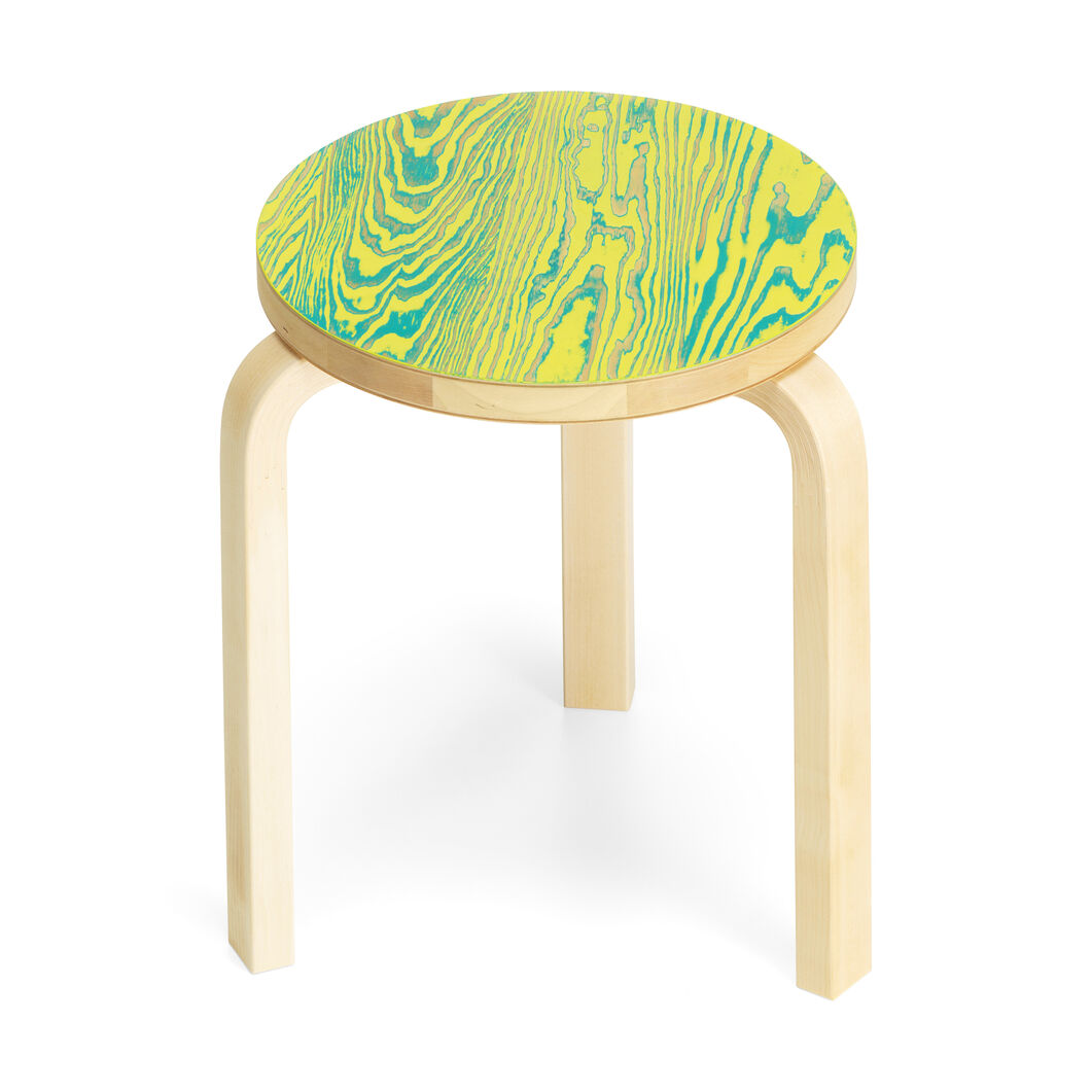 Artek Aalto ColoRing 60 Stacking Stool in color Yellow/ Green