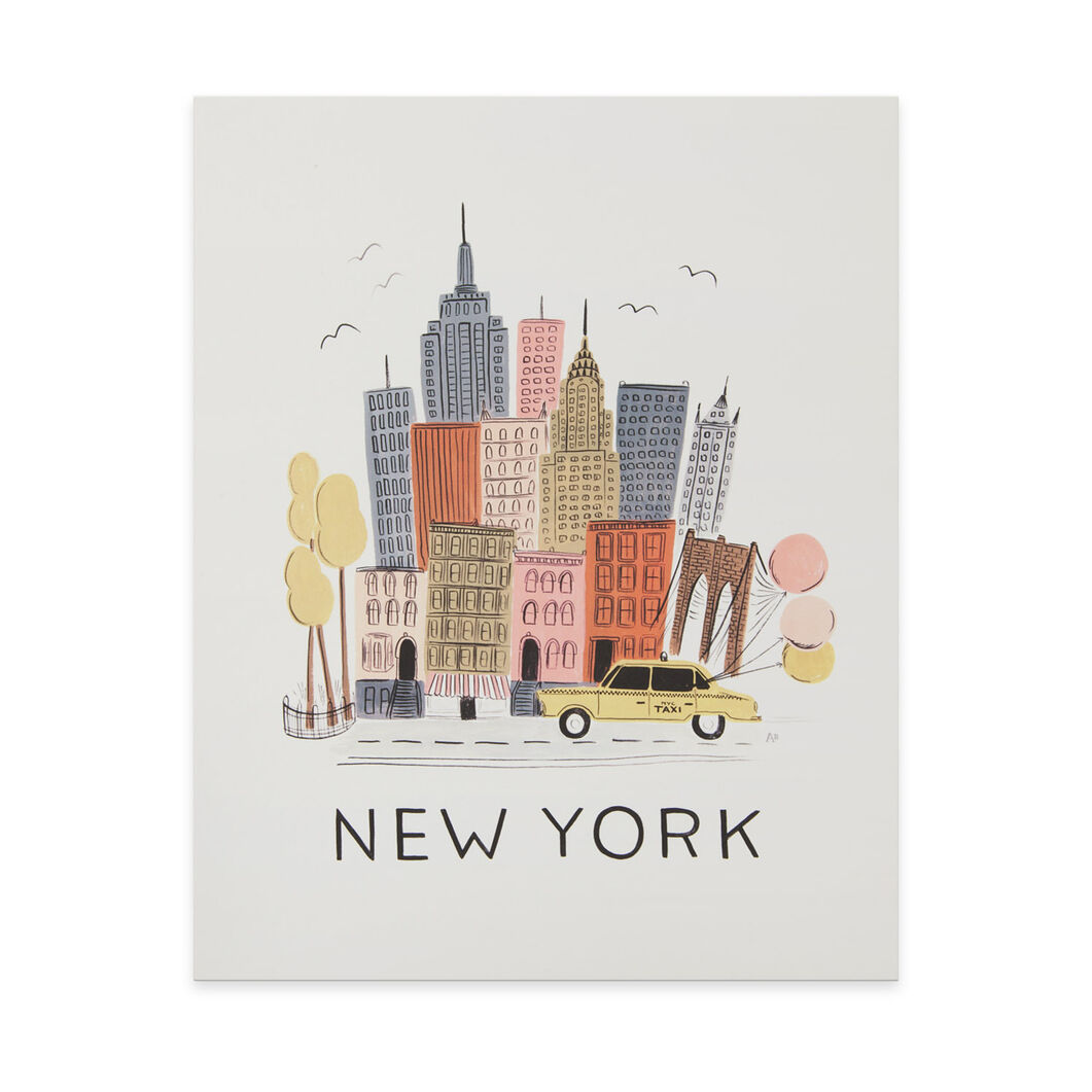 New York Art Print in color