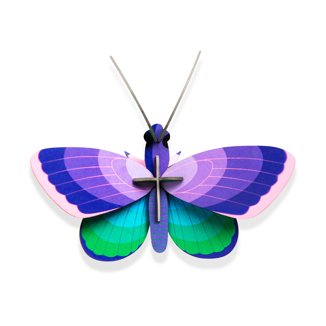 3D DIY Decorative Insects in color Blue Copper Bfly