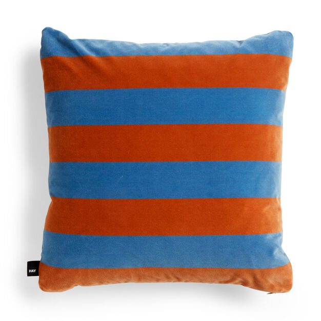 HAY Soft Stripe Cushion in color Light Blue