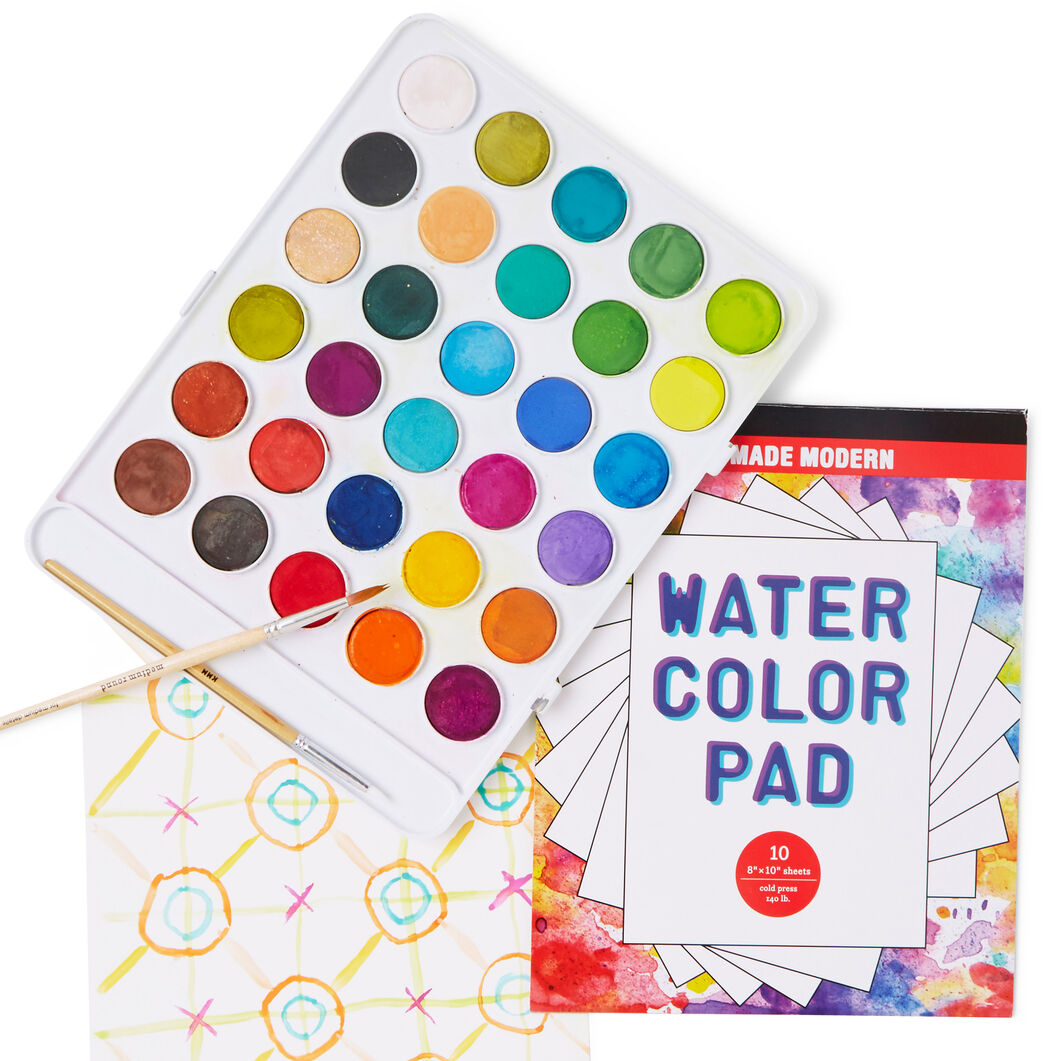Kid Made Modern Wondrous Watercolor Kit in color