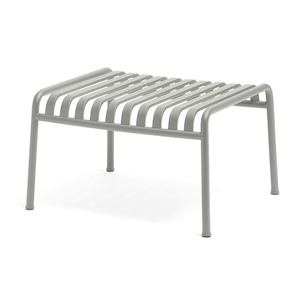HAY Palissade Outdoor Ottoman in color Sky Grey