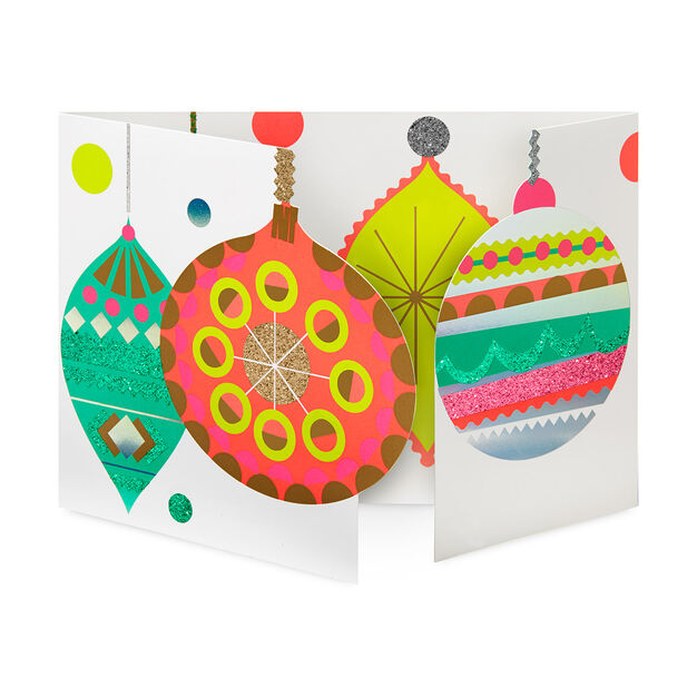 Sparkling Baubles Holiday Cards (Box of 8) in color