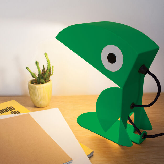 Green Toucan Table Lamp in color