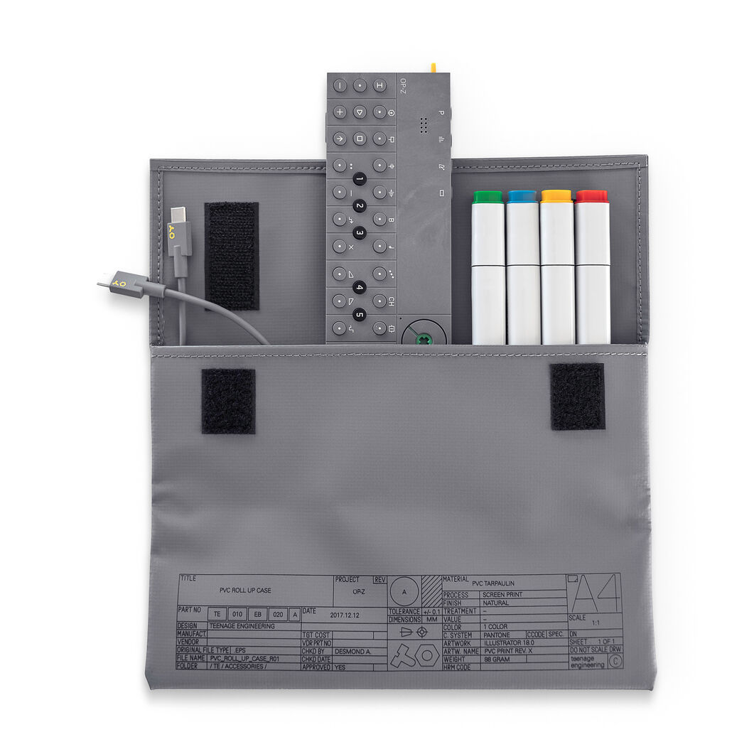 Travel Pouch for OP-Z Synthesizer in color Gray
