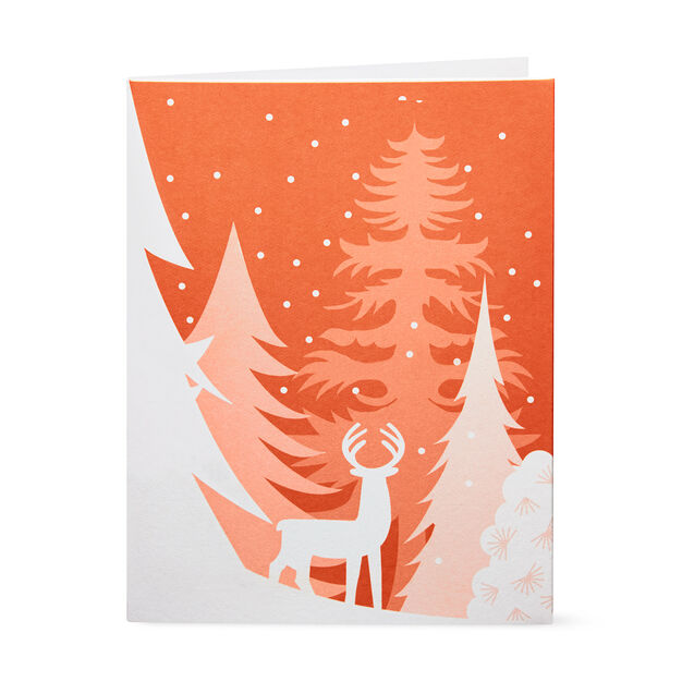 Snowy Wonderland Holiday Cards in color