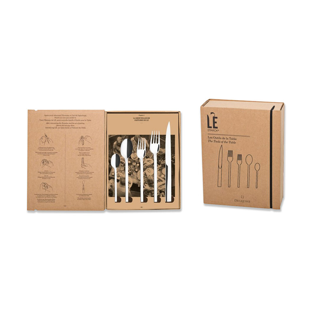 L'E Flatware by Philippe Starck x Degrenne in color