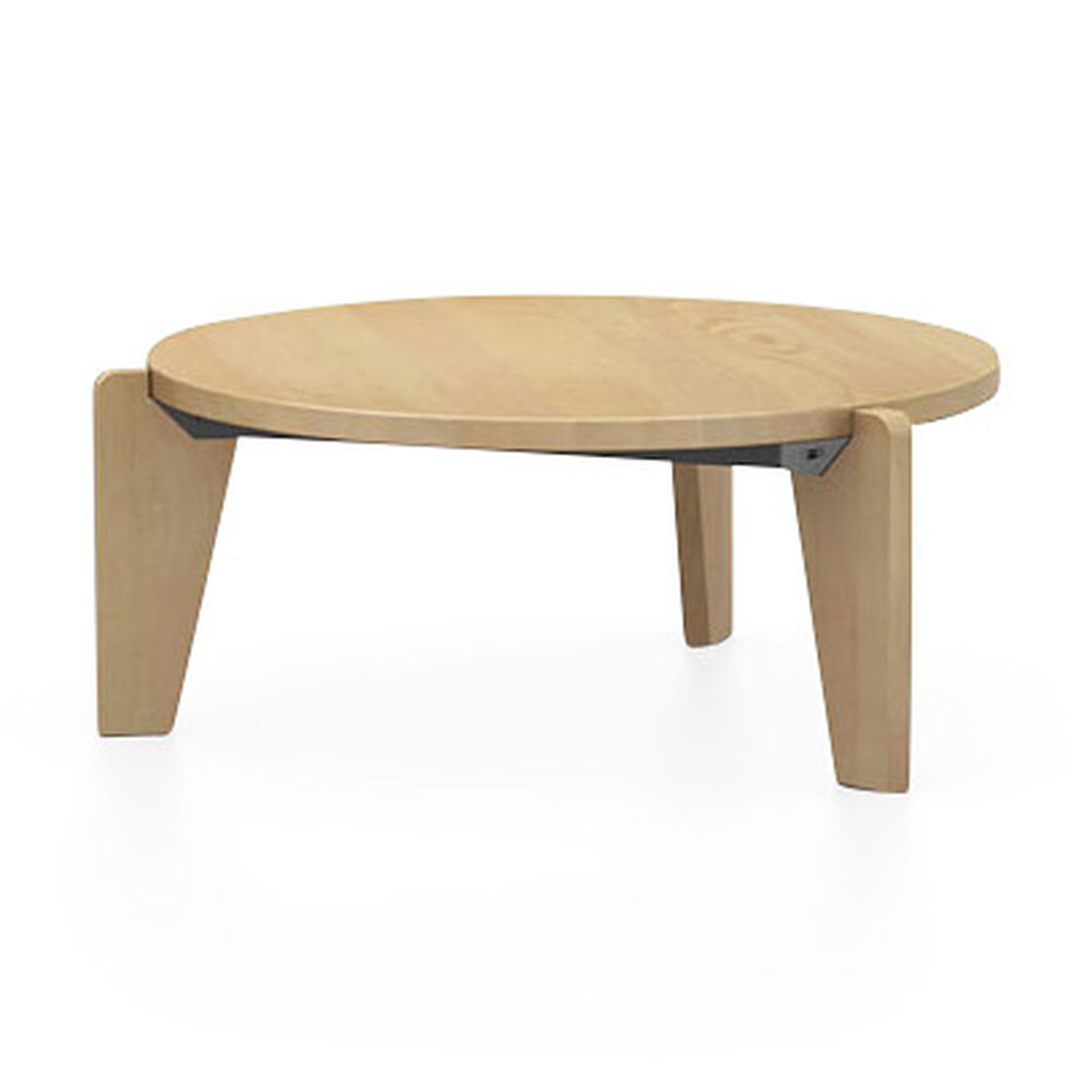 Guéridon Bas Coffee Table in color Oak