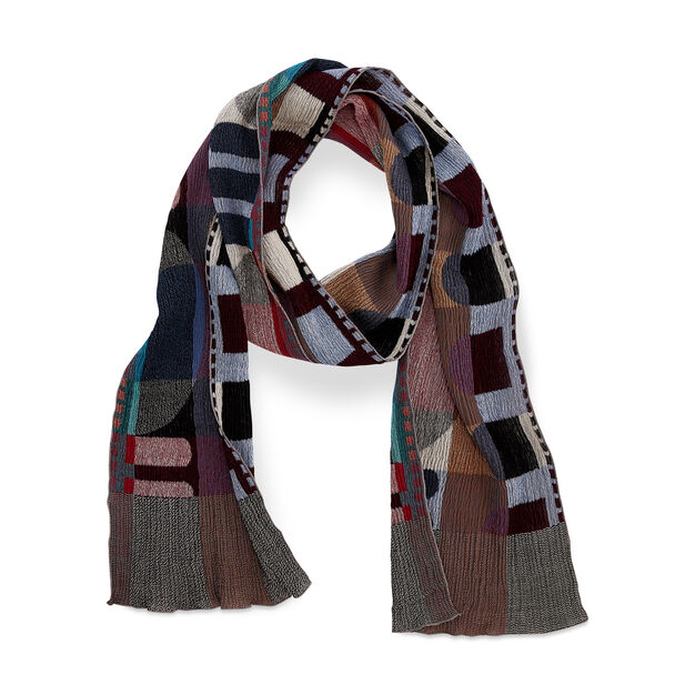 Roll-Up Wool Scarf in color