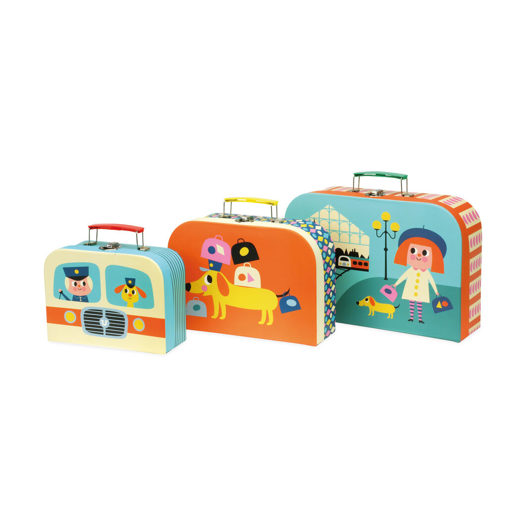 Toy Cardboard Suitcases in color