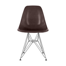 Eames® Molded Fiberglass Side Chair in color Seal Brown