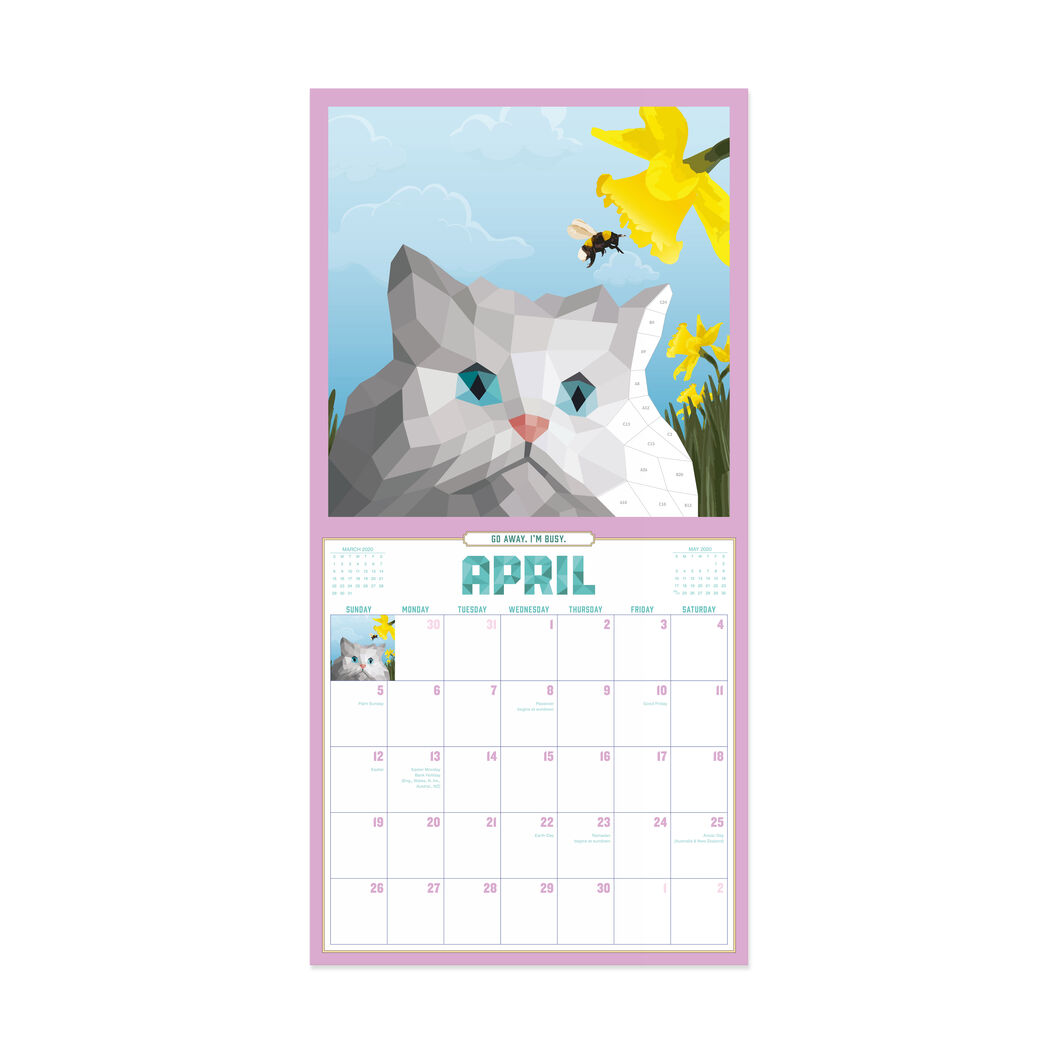 2020 Paint by Sticker Cat Calendar in color
