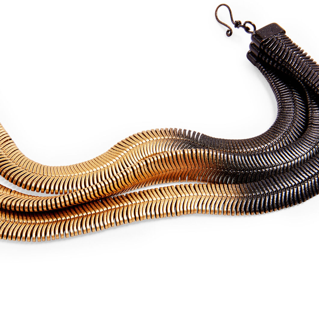 Fern Necklace in color Gold/ Black