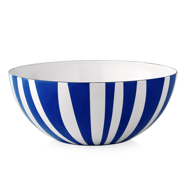 Large Striped Bowl in color Blue