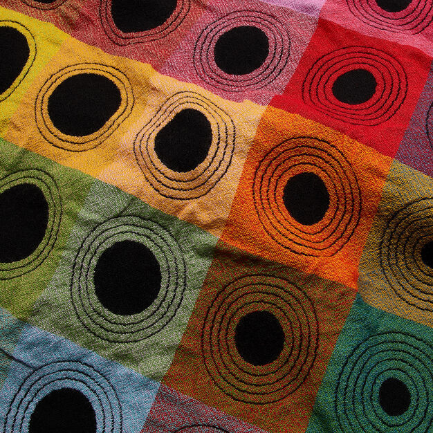Multicolor Wool Optical Blanket in color