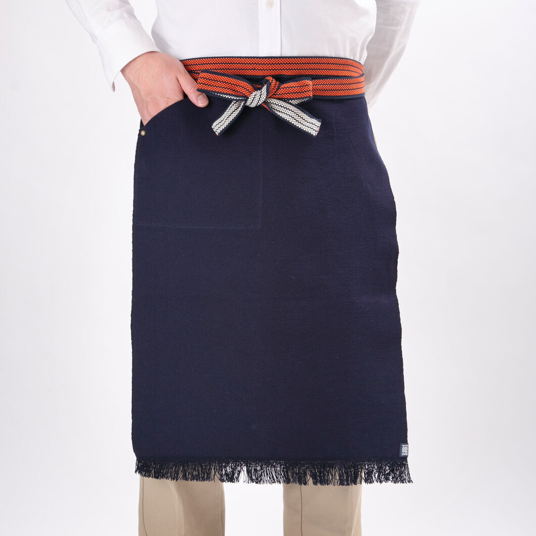 Japanese Maekake Workshop Cotton Apron in color