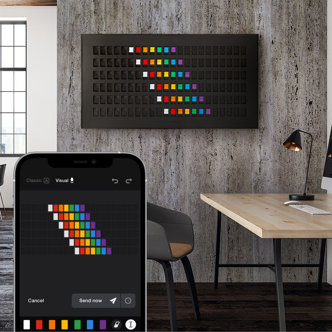 Vestaboard Smart Messaging Display in color Black