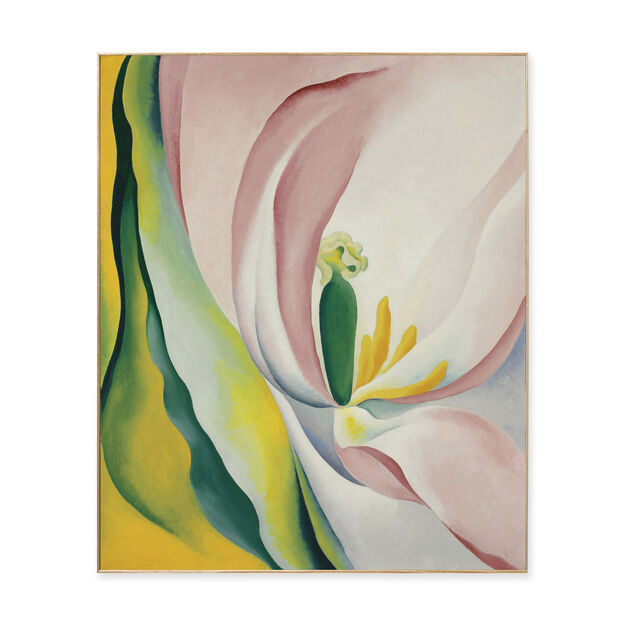 Georgia O'Keeffe: Pink Tulip Framed Print in color