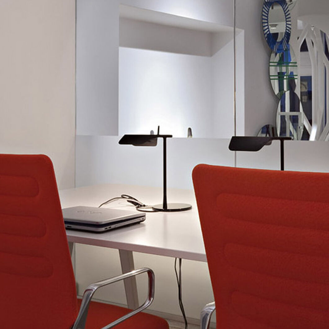 Tab LED Table Lamp in color Black