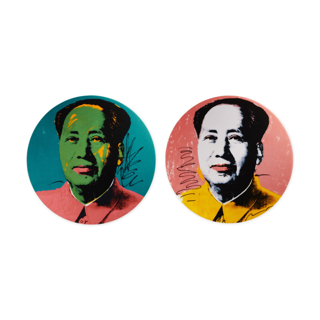 Andy Warhol Mao Plate in color Pink