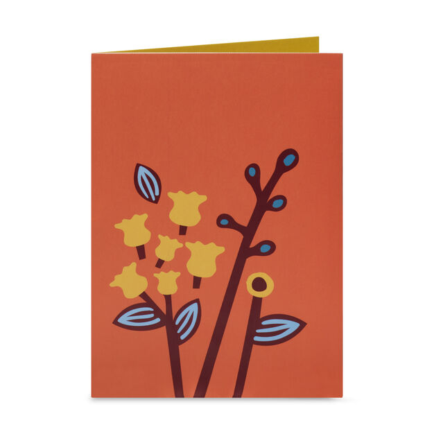 Playful Leaves Pop-Up Note Cards - Set of 6 in color