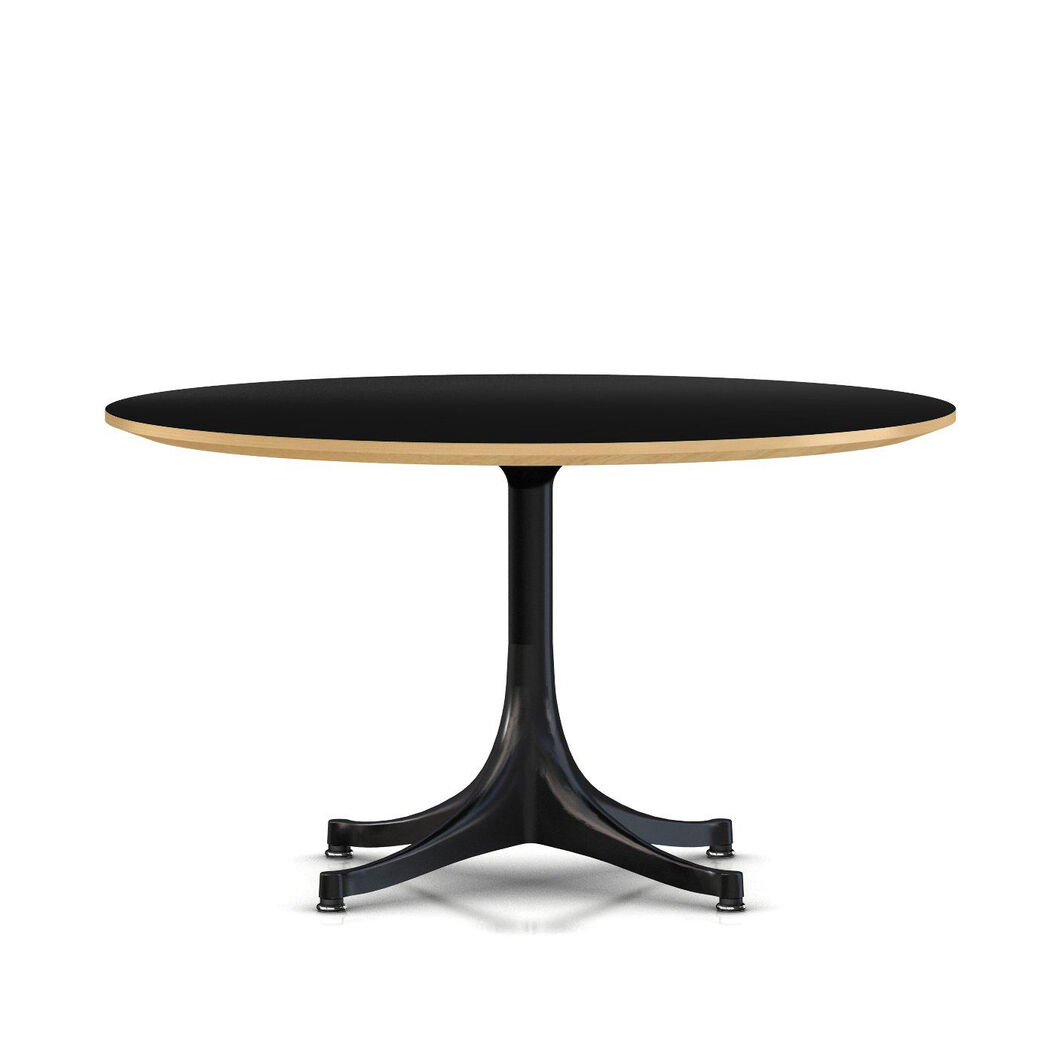 George Nelson™ Pedestal Coffee Table from Herman Miller© in color Black