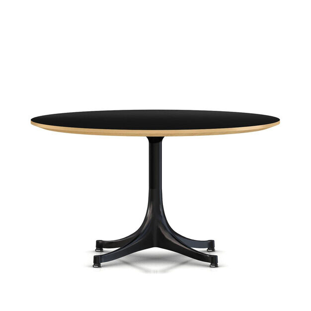 George Nelson™ Pedestal Coffee Table in color Black