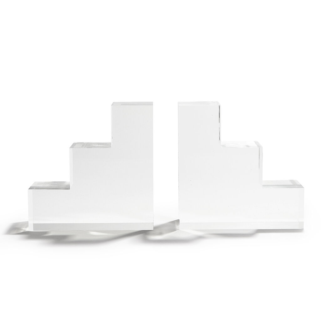 Poketo Step Bookends - Set of 2 in color Clear