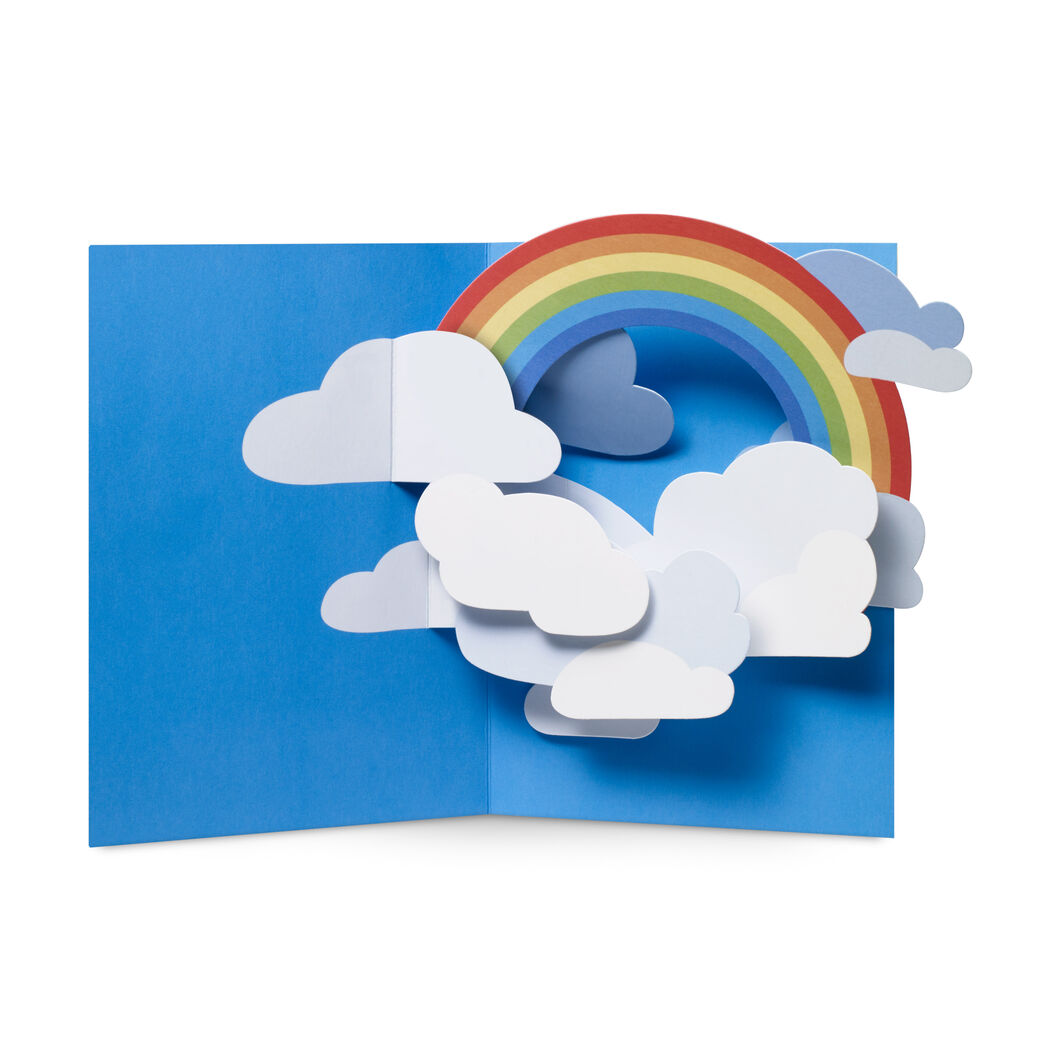 Rainbow Sky Pop-Up Note Cards - Set of 6 in color
