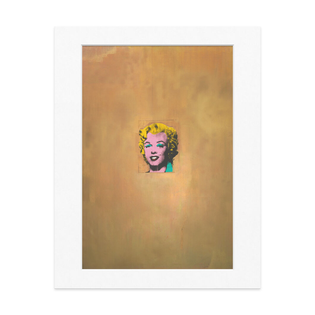 Matted Print  Warhol: Gold Marilyn Monroe in color