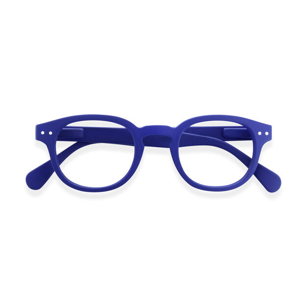 IZIPIZI Rounded-Edge Square Reading Glasses #C in color Blue