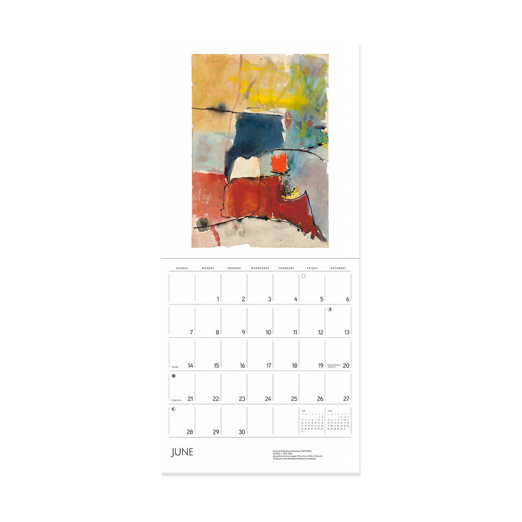2020 Richard Diebenkorn Wall Calendar in color