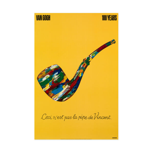 Milton Glaser: Van Gogh 100 Years Poster in color