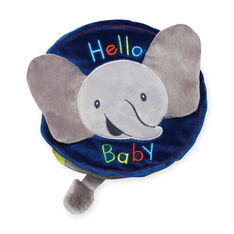 Plush Flappy Elephant Soft Book in color