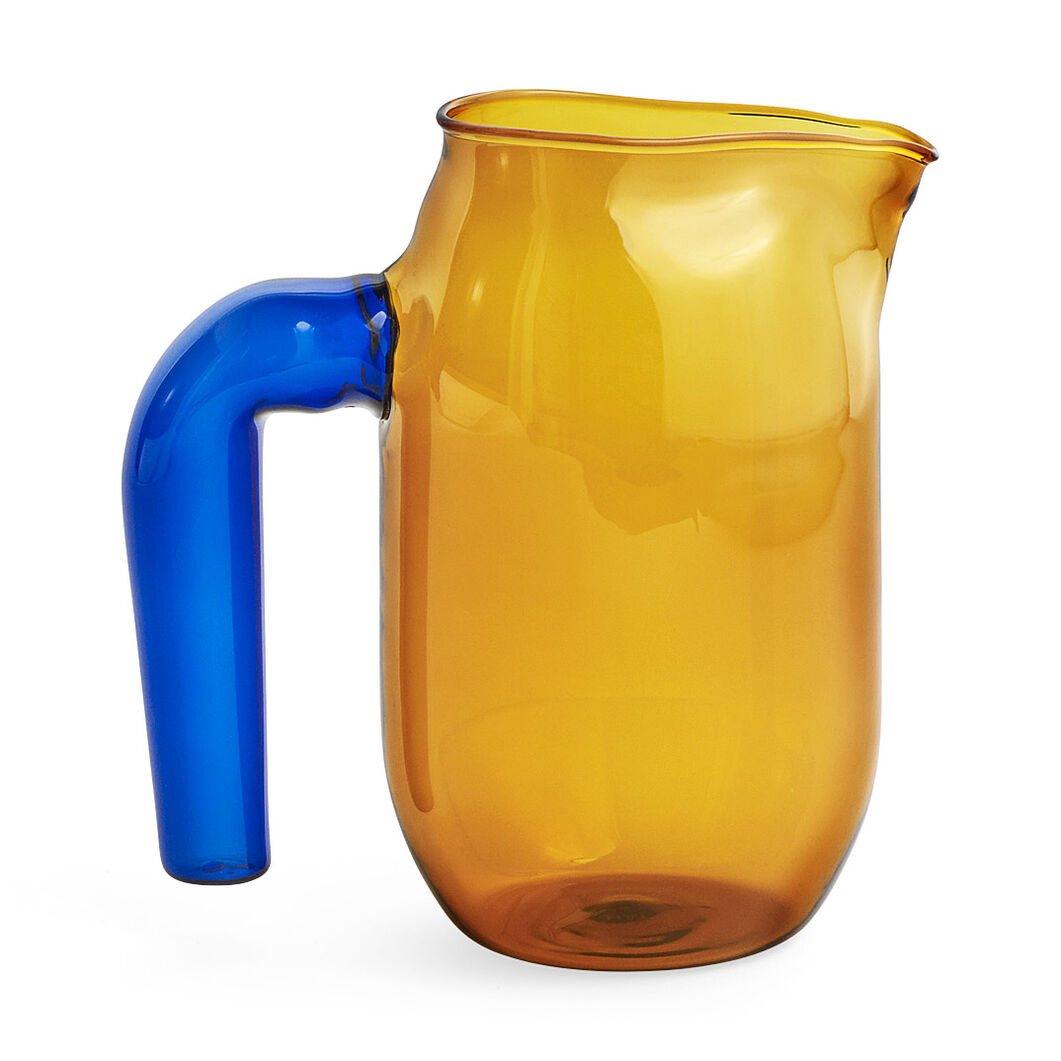 HAY Glass Jug in color Amber