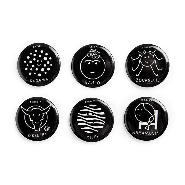 Herstory of Art Buttons in color