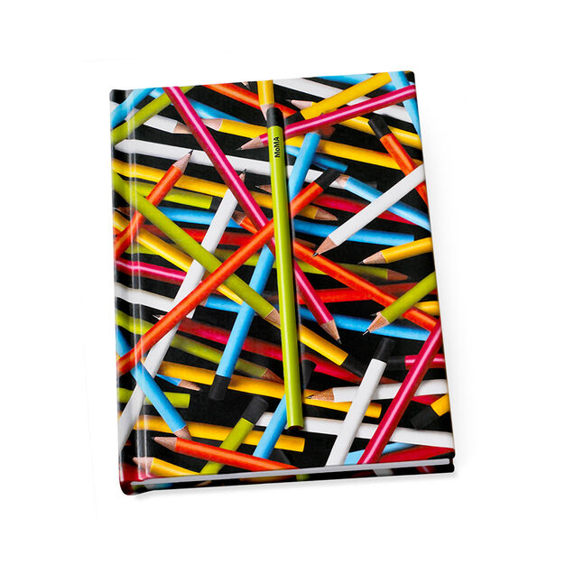 Notebook Hidden Colored Pencils in color Multi