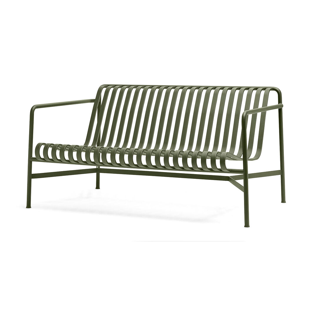 HAY Palissade Outdoor Lounge Sofa in color Olive