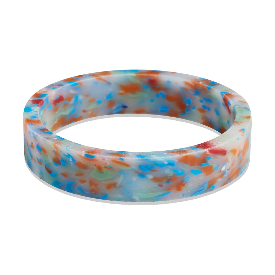 AYM Ingrid Recycled Plastic Bangle in color Blue
