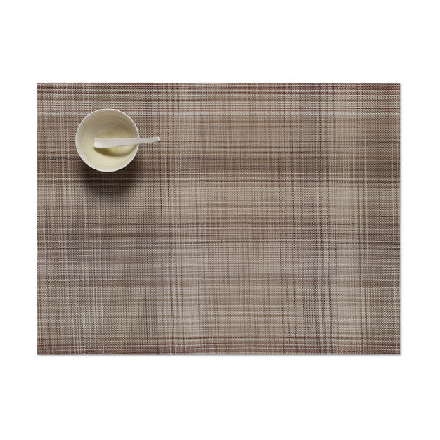 Chilewich Plaid Placemat in color Tan