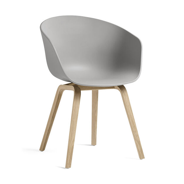 HAY About a Chair 22 in color Gray/ Oak