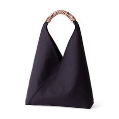 Woven Triangle Bag in color Charcoal