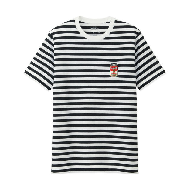 UNIQLO Andy Warhol Black-and-White Striped T-Shirt in color