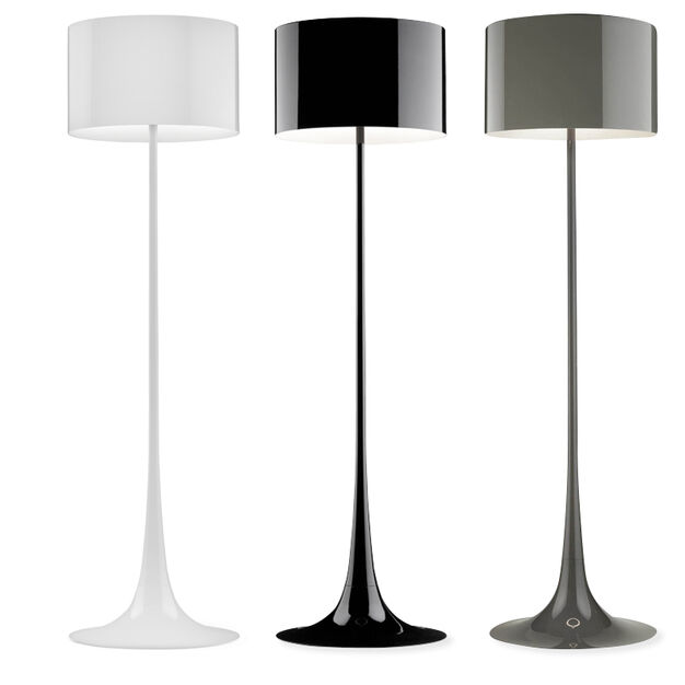Spun Floor Lamp in color White