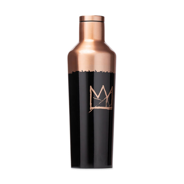 Basquiat Corkcicle Canteens in color Gold/ Black