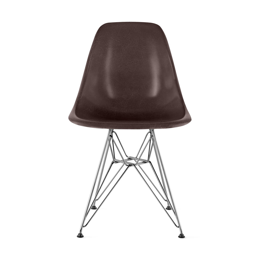 Eames® Molded Fiberglass Side Chair from Herman Miller© in color Seal Brown