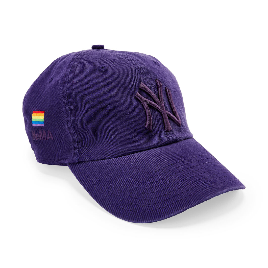 NY Yankees Pride Hat in color Purple